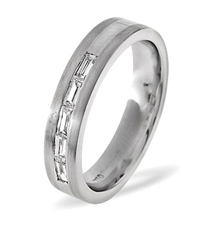 LADIES 18K WHITE GOLD DIAMOND WEDDING RING 0.22CT G/VS