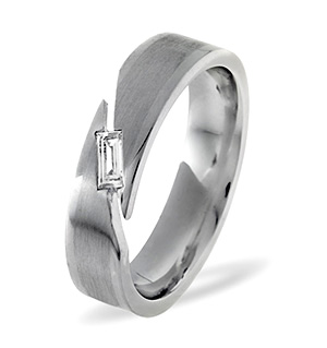 Jasmine Platinum Wedding Ring 0.07CT H/SI