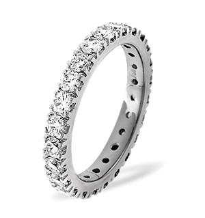 POPPY 18K White Gold DIAMOND FULL ETERNITY RING 2.00CT G/VS
