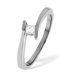 18K White Gold Diamond Ring 0.15ct H/si