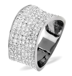 18K White Gold Diamond Ring 0.89ct H/si