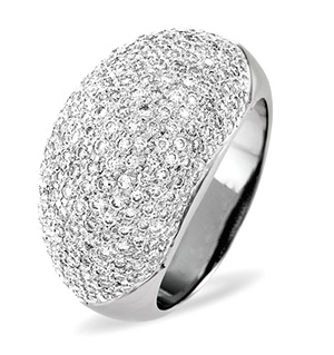 18K White Gold Diamond Ring 1.29ct H/si