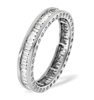SKYE 18K White Gold DIAMOND FULL ETERNITY RING 1.00CT H/SI