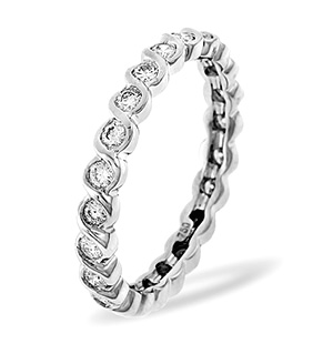 KIERA 18K White Gold DIAMOND FULL ETERNITY RING 1.00CT G/VS