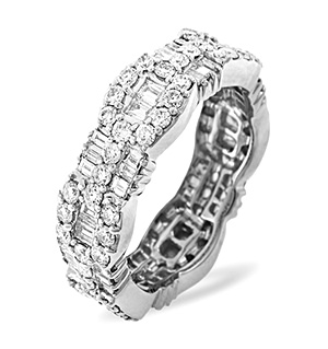 AMELIA 18K White Gold DIAMOND FULL ETERNITY RING 2.55CT PK