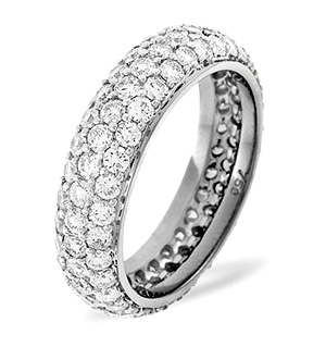 SARA PLATINUM DIAMOND FULL ETERNITY RING 3.00CT H/SI