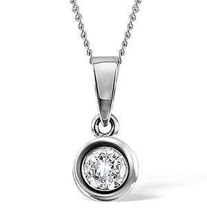 Emily 18K White Gold Diamond Pendant 0.33CT PK
