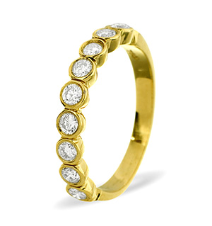 EMILY 18K Gold Diamond ETERNITY RING 0.50CT G/VS
