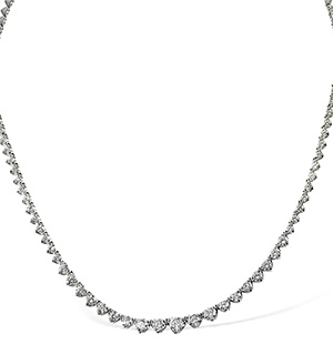 18K White Gold Diamond Necklace 3.00CT G/VS