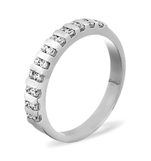 ELLIE 18KW DIAMOND HALF ETERNITY RING 1.00CT H/SI