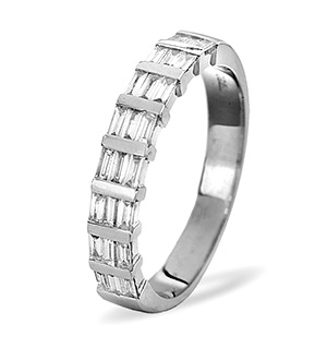 SKYE 18K White Gold Diamond ETERNITY RING 0.50CT G/VS