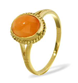 9K Gold CORAL RING