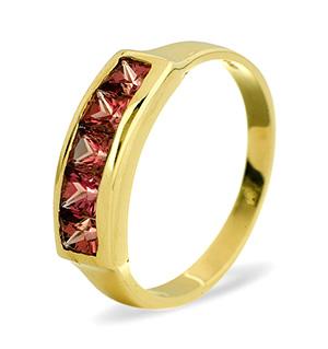 9K Gold RHODALITE GARNET RING