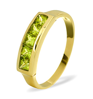 9K Gold PERIDOT RING
