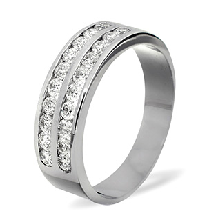 LUCY 18K White Gold Diamond ETERNITY RING 1.00CT H/SI
