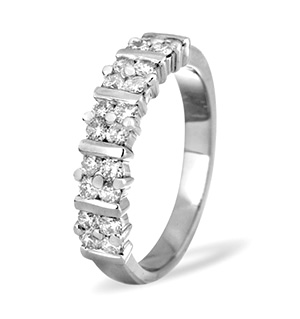 MIA 18K White Gold Diamond ETERNITY RING 0.50CT H/SI