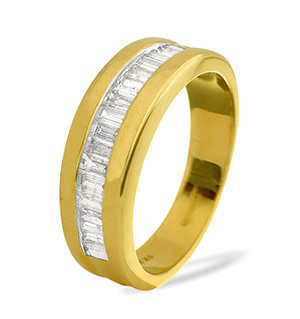 Mens Ring 1.00CT Diamond 9K Yellow Gold
