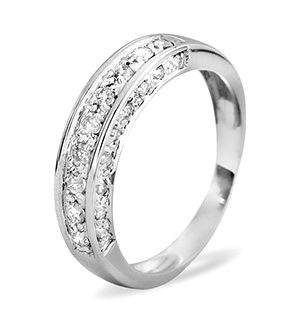 Half Eternity Ring 0.45CT Diamond 9K White Gold