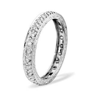 Eternity Ring 0.33CT Diamond 9K White Gold