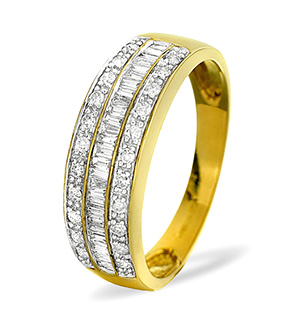 Half Eternity Ring 0.22CT Diamond 9K Yellow Gold