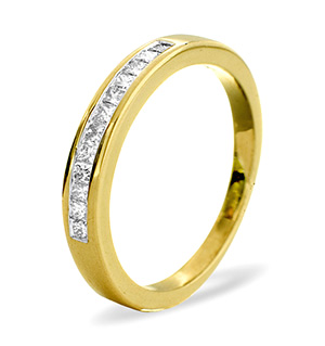 Half Eternity Ring 0.25CT Diamond 9K Yellow Gold