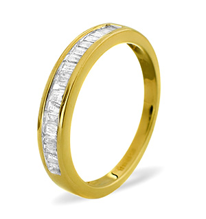 Half Eternity Ring 0.33CT Diamond 9K Yellow Gold