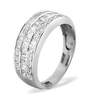 Half Eternity Ring 0.22CT Diamond 9K White Gold