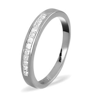 Half Eternity Ring 0.25CT Diamond 9K White Gold