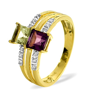 9KY DIAMOND MULTI RING 0.12CT