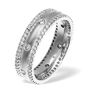 Chloe 2 row 18K White Gold Diamond Wedding Ring 1.30CT H/SI