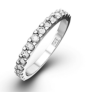 15 STONE CHLOE PLATINUM DIAMOND HALF ETERNITY RING 1.00CT G/VS