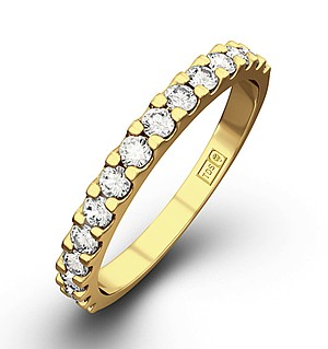 15 STONE CHLOE 18K Gold DIAMOND ETERNITY RING 1.00CT G/VS