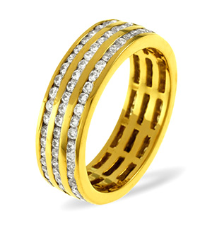 AMY 18K Gold DIAMOND FULL ETERNITY RING 2.00CT G/VS