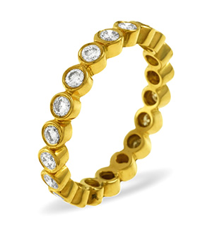 EMILY 18K Gold DIAMOND FULL ETERNITY RING 1.00CT G/VS