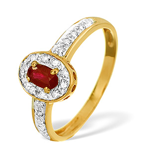 9K Gold ROSE GOLD RUBY RING 0.11CT
