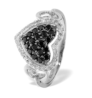 18K WHITE GOLD DIAMOND RING 0.16CT