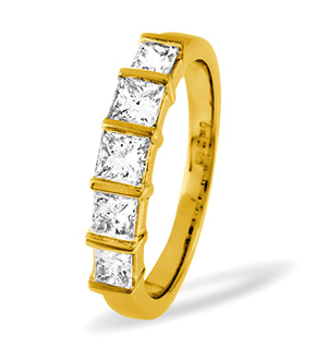Lauren 18K Gold 5 Stone Diamond Eternity Ring 0.50CT G/VS