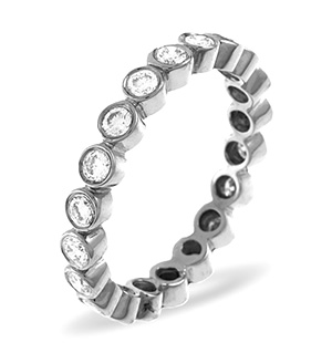 EMILY PLATINUM DIAMOND FULL ETERNITY RING 1.00CT G/VS
