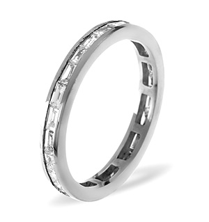 LILY 18K White Gold DIAMOND FULL ETERNITY RING 1.00CT G/VS