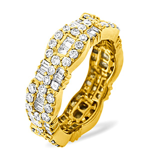 AMELIA 18K Gold DIAMOND FULL ETERNITY RING 2.55CT G/VS