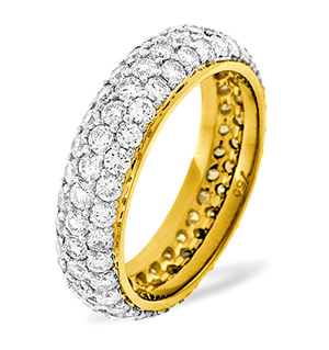 SARA 18K Gold DIAMOND FULL ETERNITY RING 3.00CT G/VS