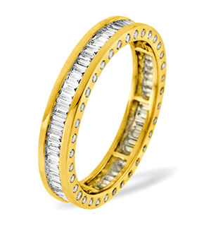 SKYE 18K Gold DIAMOND FULL ETERNITY RING 1.00CT H/SI