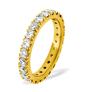 POPPY 18K Gold DIAMOND FULL ETERNITY RING 2.00CT G/VS