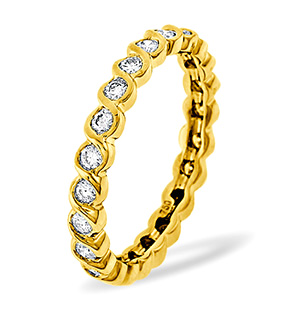KIERA 18K Gold DIAMOND FULL ETERNITY RING 1.00CT H/SI