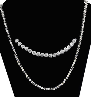 18K White Gold Diamond Necklace 12.00ct