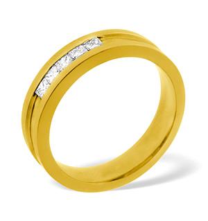 LADIES 18K GOLD DIAMOND WEDDING RING 0.22CT G/VS