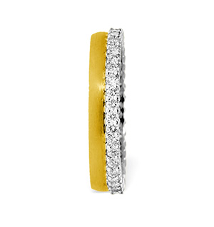 Emily High Set 18K Gold Diamond Wedding Ring 1.20CT G/VS