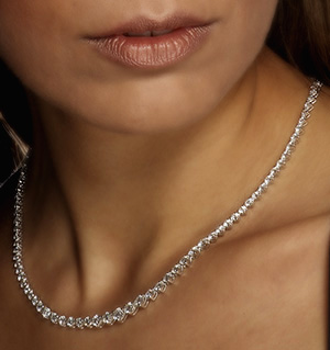 18K White Gold Diamond Necklace 5.50ct