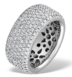 Exclusive 3.75CT G/Vs Pave Full Eternity Ring SIZE N