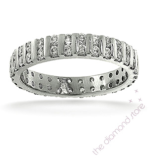 ELLIE 18K White Gold DIAMOND FULL ETERNITY RING 2.00CT G/VS
